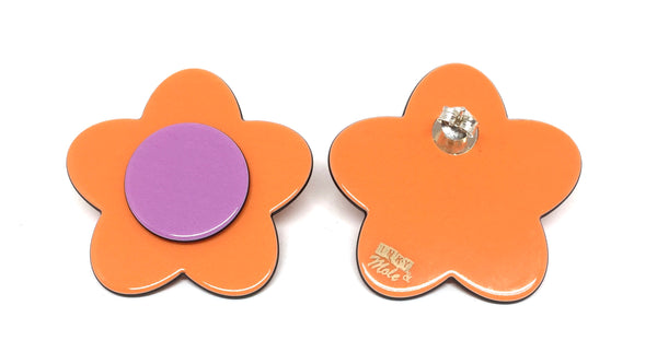 Bibi Earrings - Orange