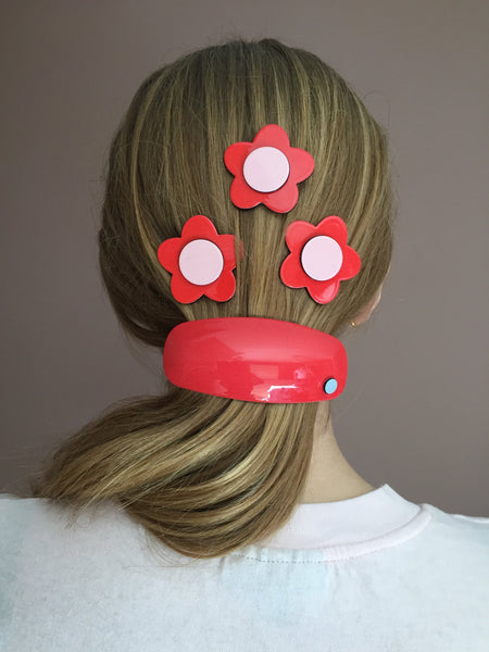 Morocco Barrette - Rosy red