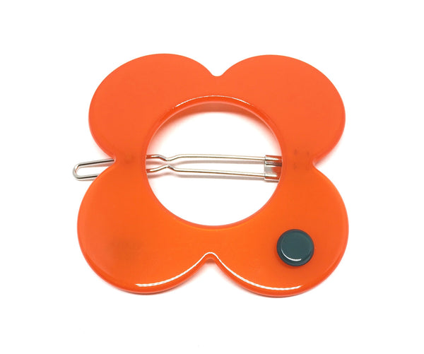 Hanover Large Hairclip - Orange