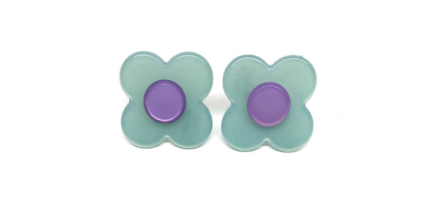 Hanover Earrings - Duckegg blue