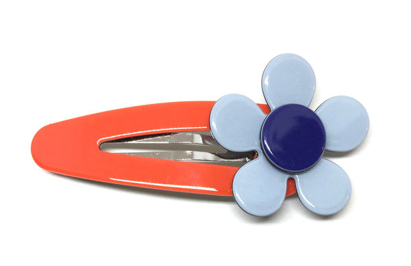 Flat flower click clack - Orange blue
