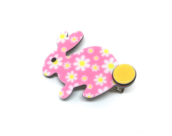 Little Inky Rabbit - pink floral