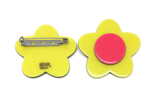 Bibi brooch - Yellow