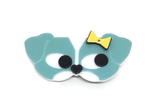 Dog with bow - blue