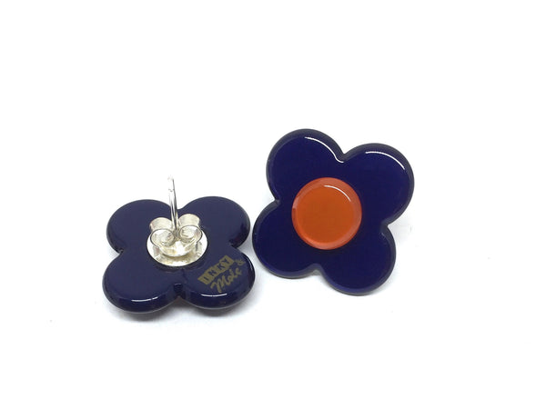 Hanover Earrings - navy blue