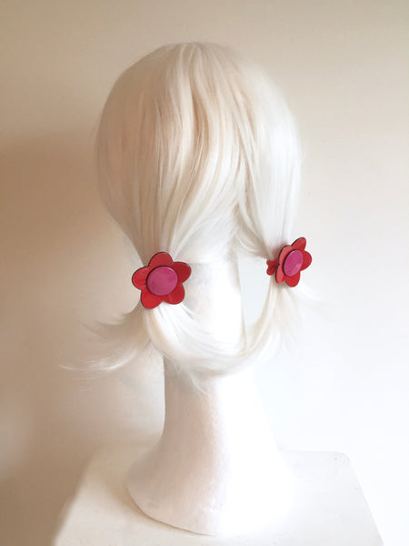 Bibi flower ponytail - Cream