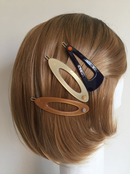 Naples Hairclip - navy blue
