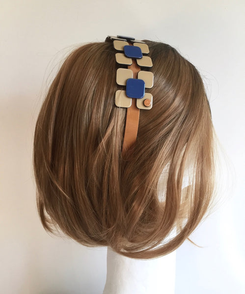 Fancy flower headband - Camel