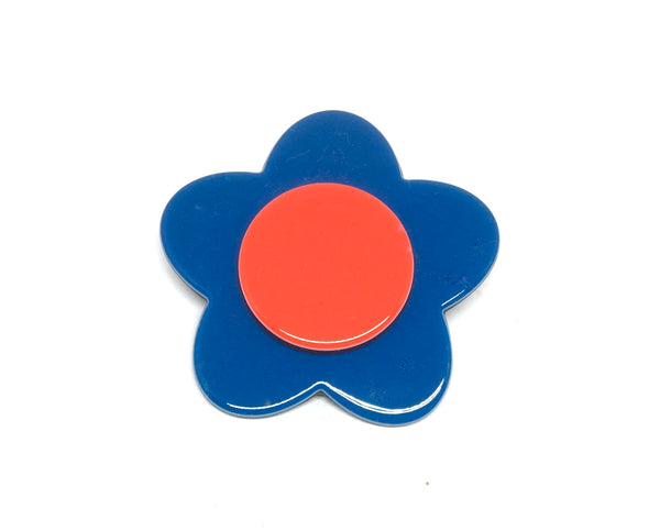 Bibi brooch - Bright blue