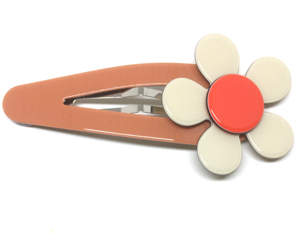 Flat flower click clack - Ginger cream - LARGE