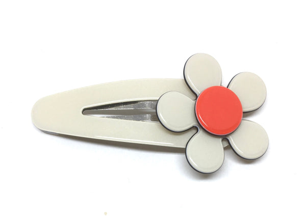 Flat flower click clack - cream orange