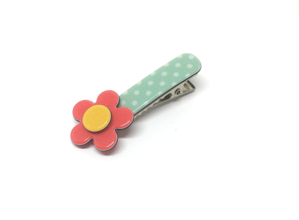 Little Inky flower - pale green polka