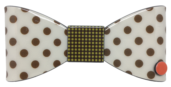 Splendid Bow - cream polka