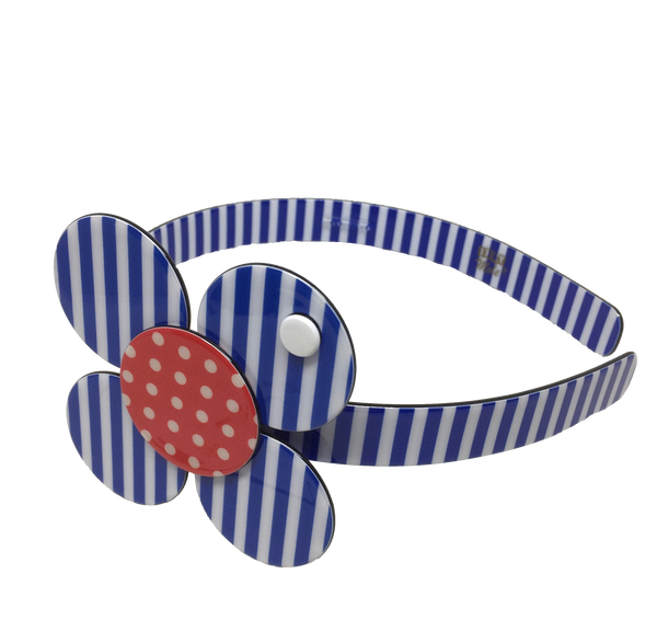 Florence headband - blue stripe