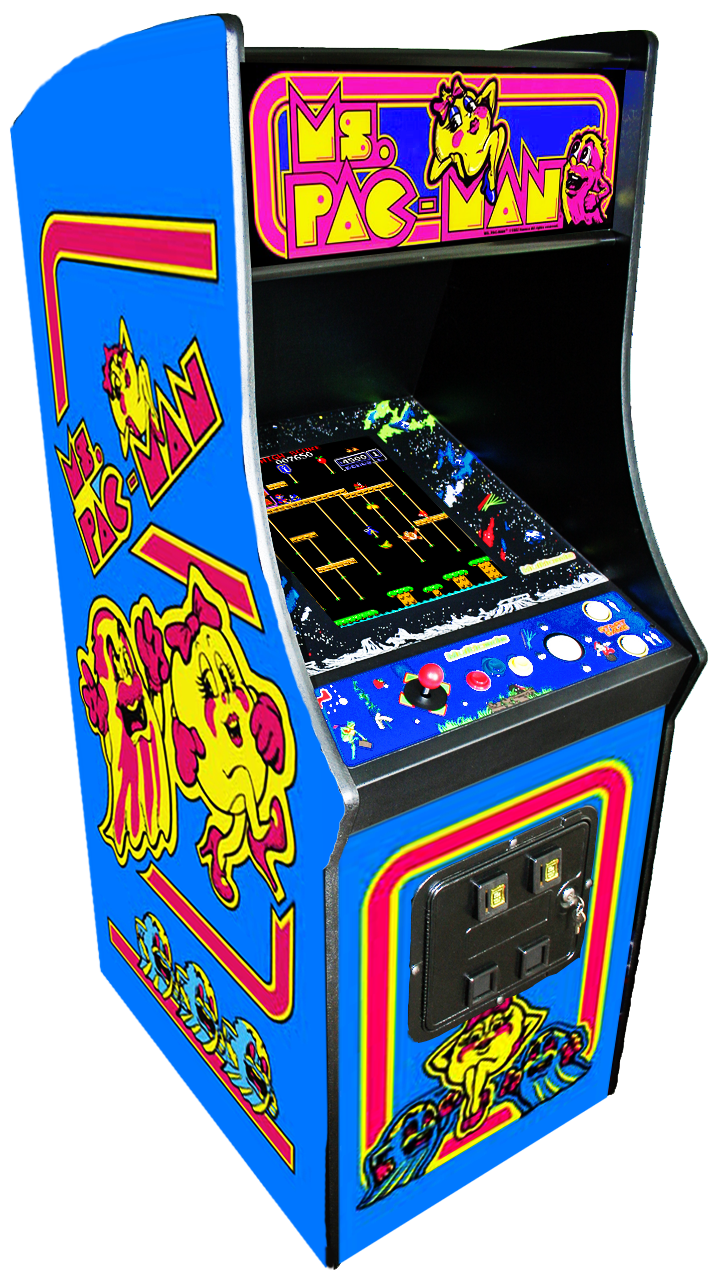 Ms Pacman Cabinet Ms Pac Man Galaga Pacman Arcade Machine Stand Up Ms Pac Artpngv1486606477