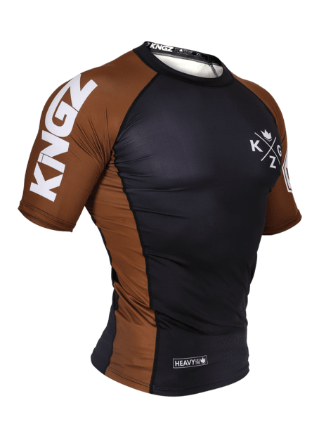 Ranked V3 S/S Rash Guard - Brown