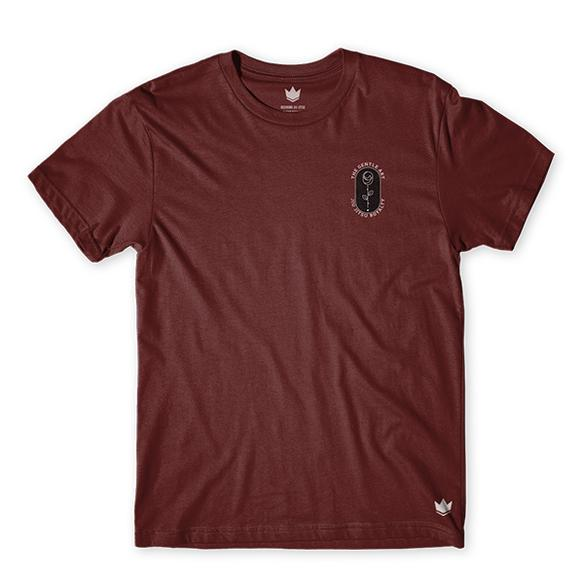 Gentle Rose Tee - Maroon