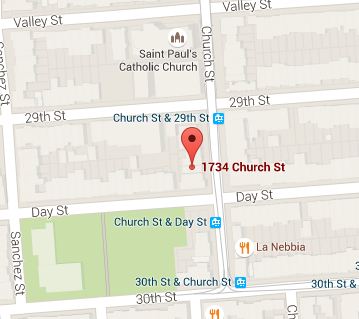 https://www.google.com/maps/place/1734+Church+St,+San+Francisco,+CA+94131/@37.7431687,-122.4290873,17z/data=!3m1!4b1!4m2!3m1!1s0x808f7e6857d539b9:0x2113c3a4847505dd