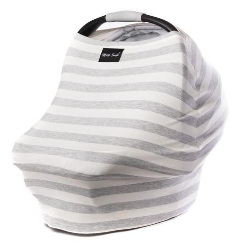 Milk Snob car seat cover Stripe Grey & cream