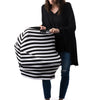Milk Snob car seat cover Stripe B & W signature