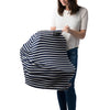 Milk Snob car seat cover Stripe Marine navy