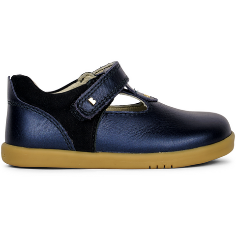 Shoes I WALK Louise TBar Navy SHimmer