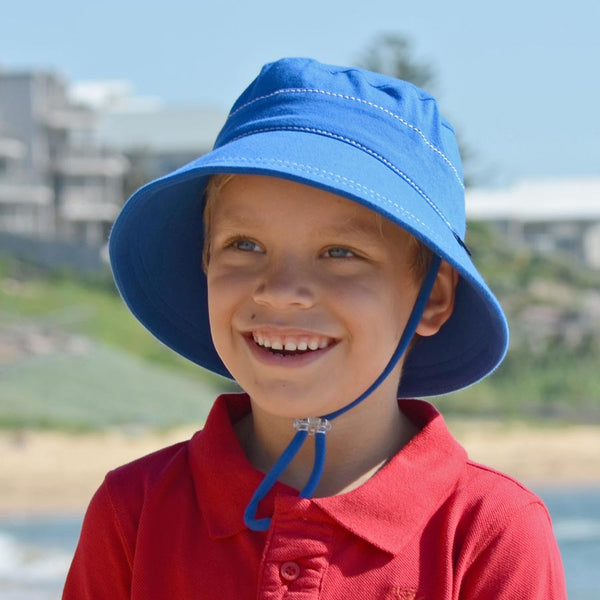Kids Bucket hat bright blue
