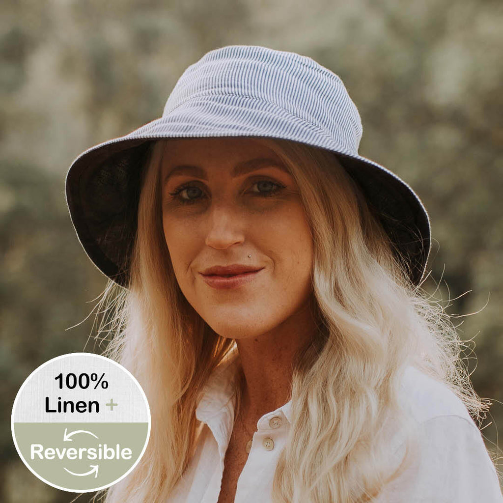 Reversible Ladies Sun Hat Charlie-Indigo