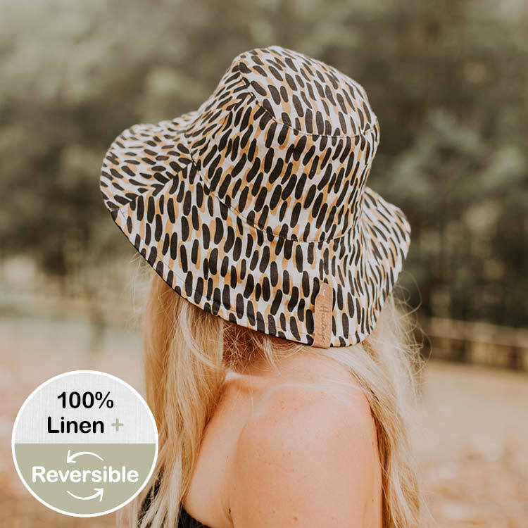 Reversible ladies Sun Hat Zuri-Ebony
