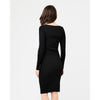 Dress Sadie rib knit Nursing Dress Black