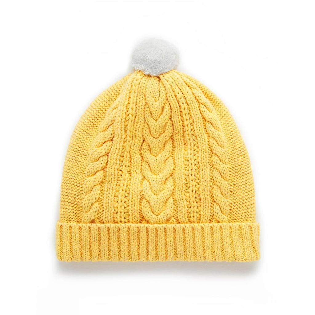 Beanie Journey Cable Ochre