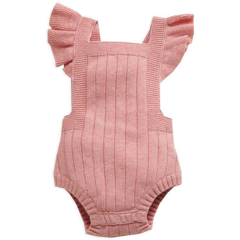 Purebaby Knitted Bodysuit Crab Apple