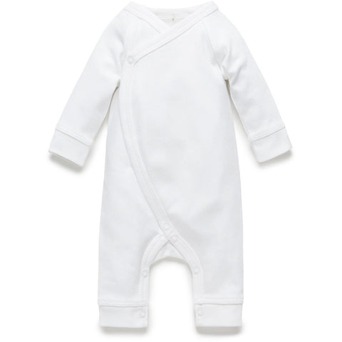 Purebaby Premi crossover Growsuit - White