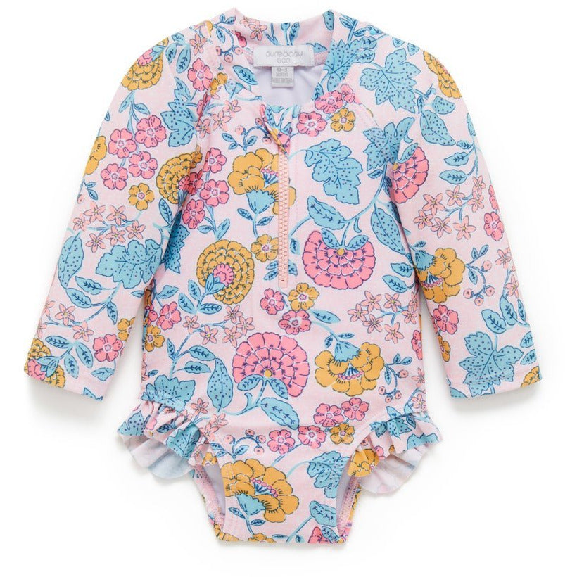 Swimwear Long Sleeve Swimsuit Sweet Marigold