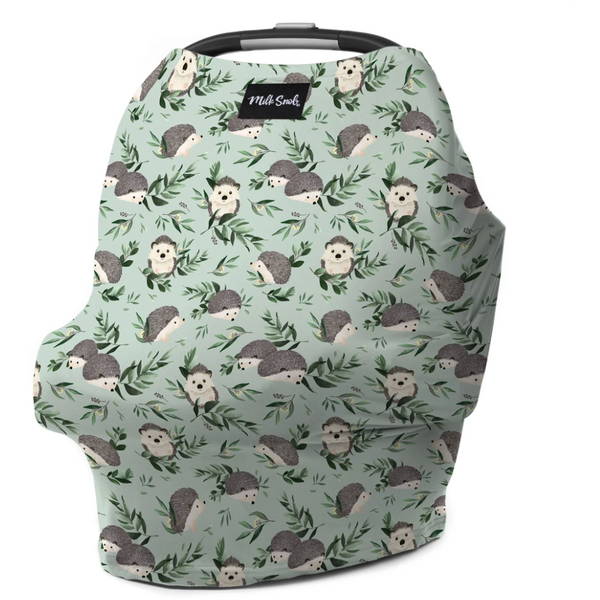Milk Snob car seat cover Happy Hedgehogs