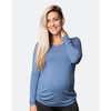 cadenshae long sleeve bamboo top - baltic blue