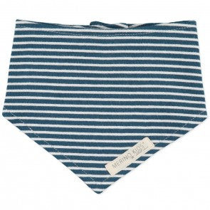 Merino kids cotton bib Navy