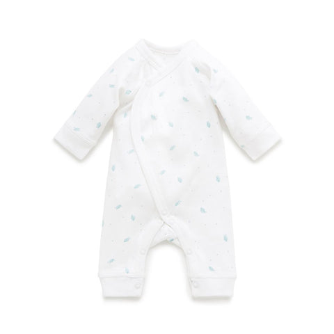Purebaby Premi crossover Growsuit - Blue Leaf