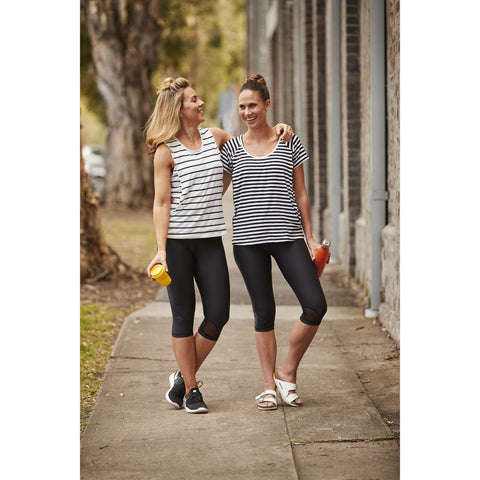 Top - Essential Tee  Stripe (B & W)