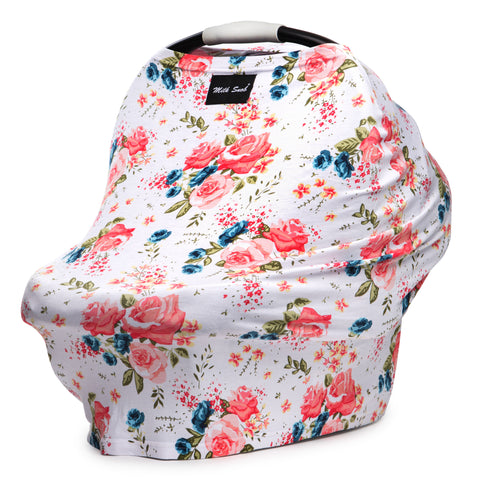 Milk Snob Car Seat Cover Floral - French