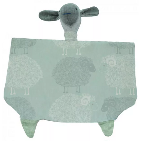 Merino Kids Snuggle Toy - Green Sheep Print