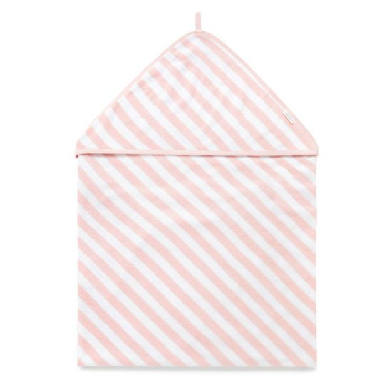 Towel Hooded Pink stripe