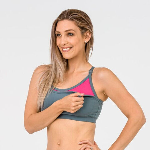 Cadenshae Bra Everyday Nursing Grey & Pink
