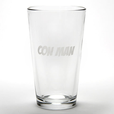 Con Man Etched Pint Glass