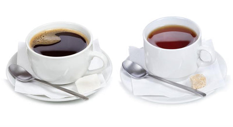 image of a cup of coffee and a cup of tea