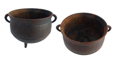 Rusty Cast Iron Cauldron