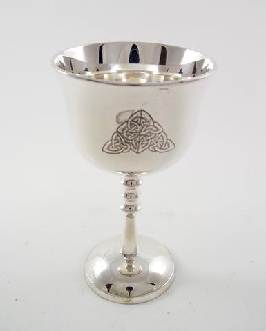 Gently Fluted Celtic Knot Chalice - The Eccentric Muse