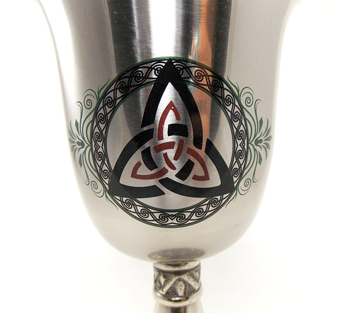 Stainless Steel Triquetra Chalice - The Eccentric Muse