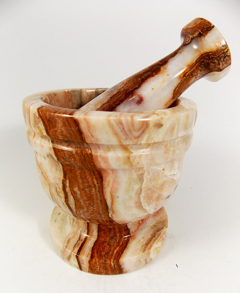 Polished Onyx Mortar and Pestle - The Eccentric Muse