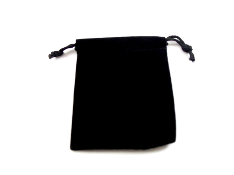 Black Velvet Drawstring Pouch - The Eccentric Muse